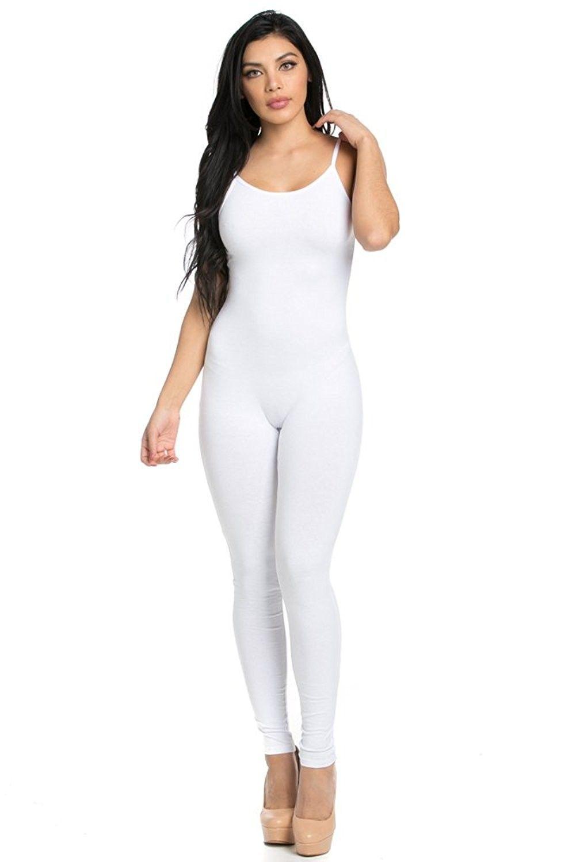 61e6955aed40 Spaghetti Catsuit Jumpsuit - White - C512FQ2TZ45 in 2019