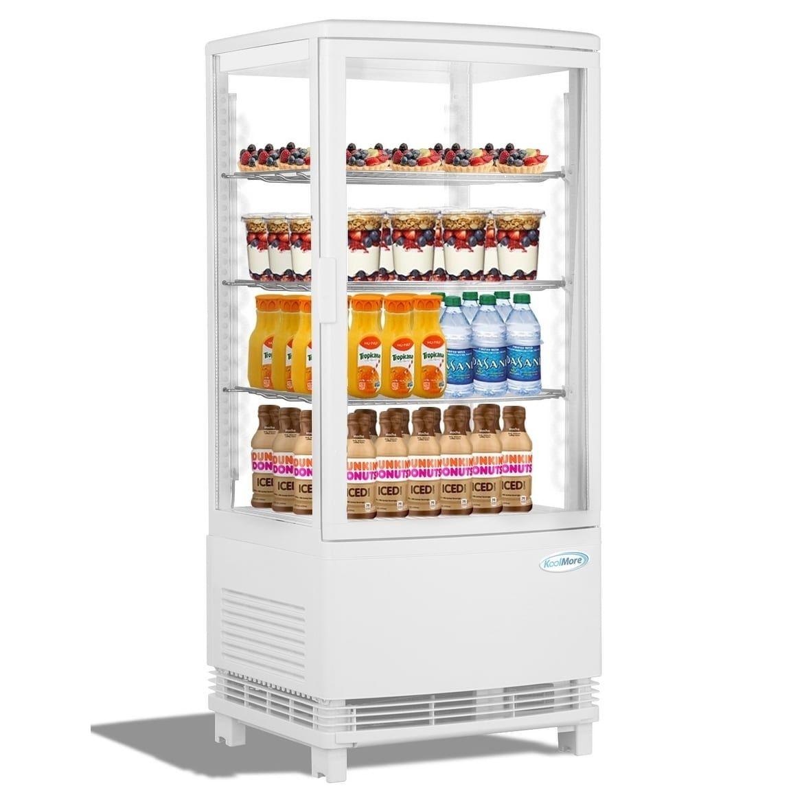 Koolmore Countertop Commercial Refrigerator Display Case 3 Cu