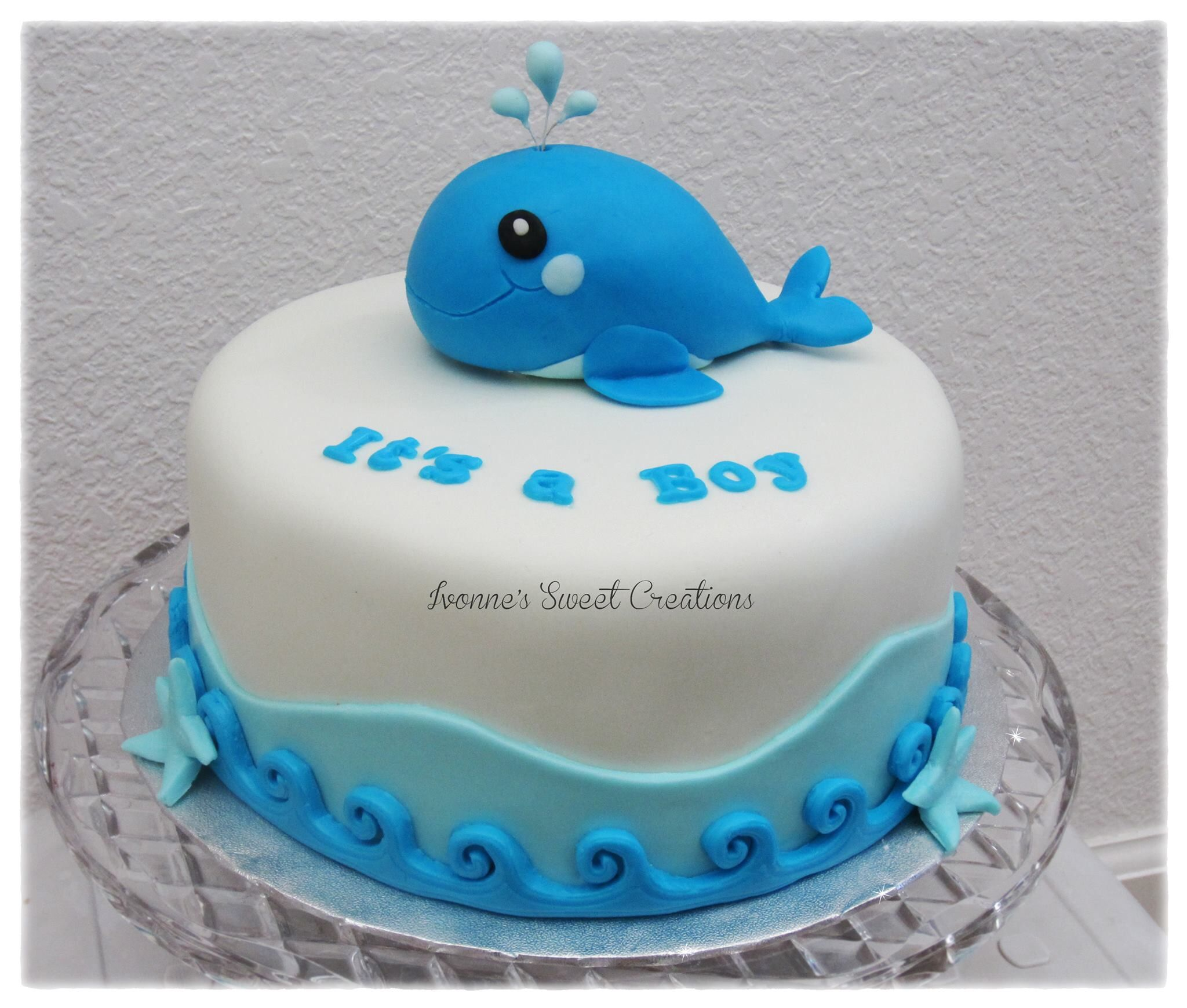 Baby Shower Whale Themed Cake