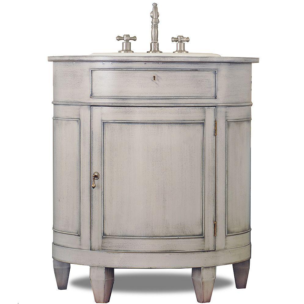 The Painted Demilune Sink Base By J. Tribble   The Premier Builder Of  Custom Sink. Vanity BathroomThe ...