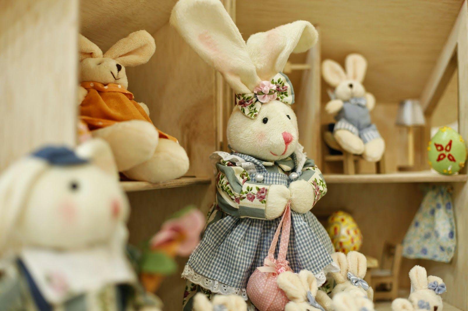 E a Páscoa chegou!  Coelhinhos lindos para decorar a casa nessa época tão Especial... ♥