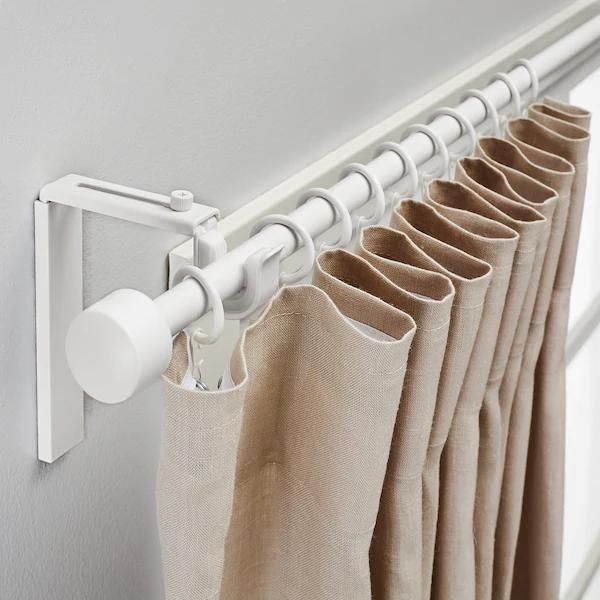 Racka Gardinstangskombination Hvid 120 210 Cm Curtain Rods