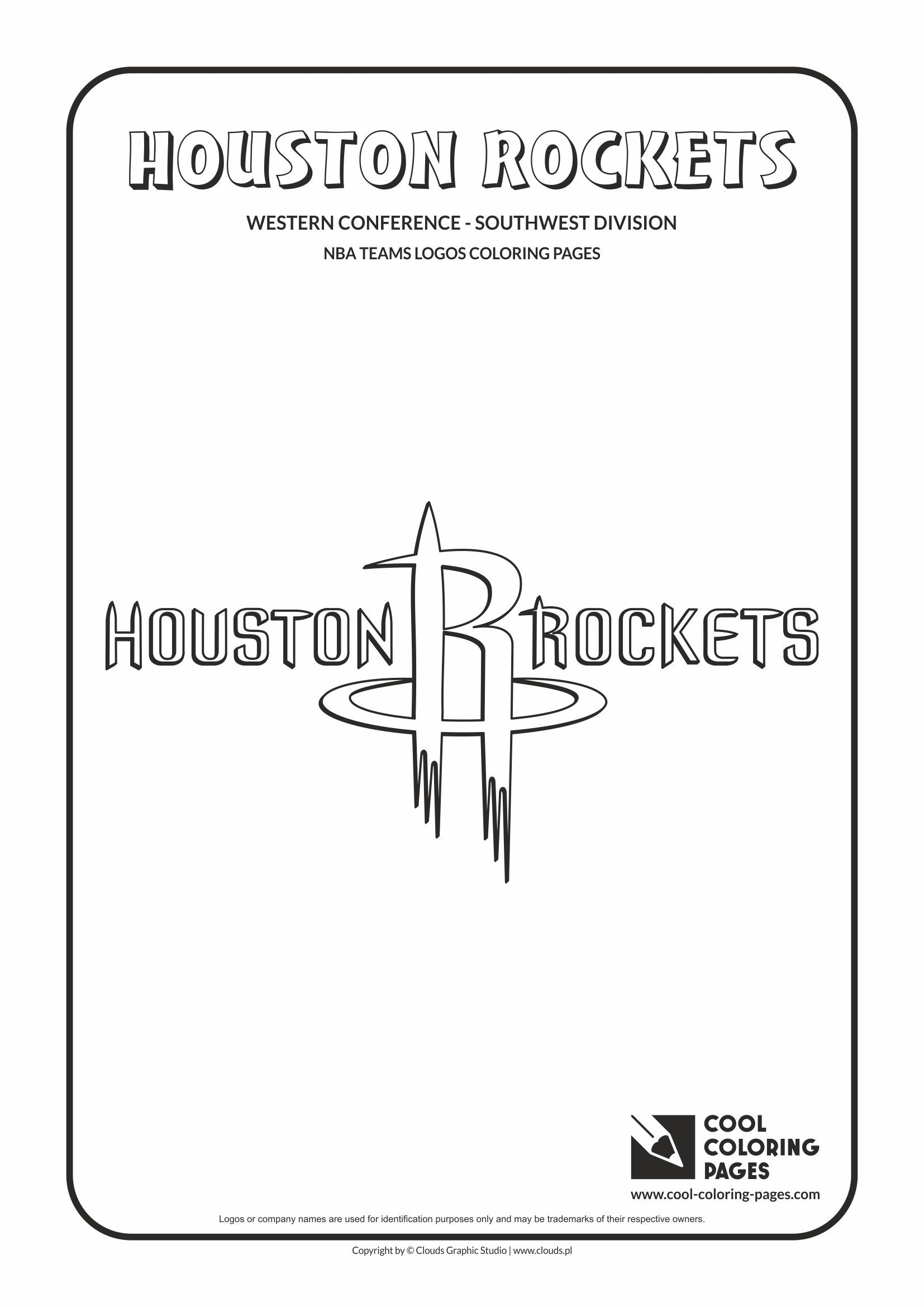 Cool Coloring Pages - NBA Basketball Clubs Logos - Western ...