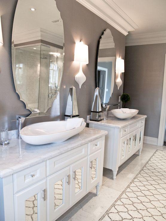 Terra Verre  Bathrooms  Crown Molding Gray Walls Gray Wall Awesome Bathroom Crown Molding Inspiration Design