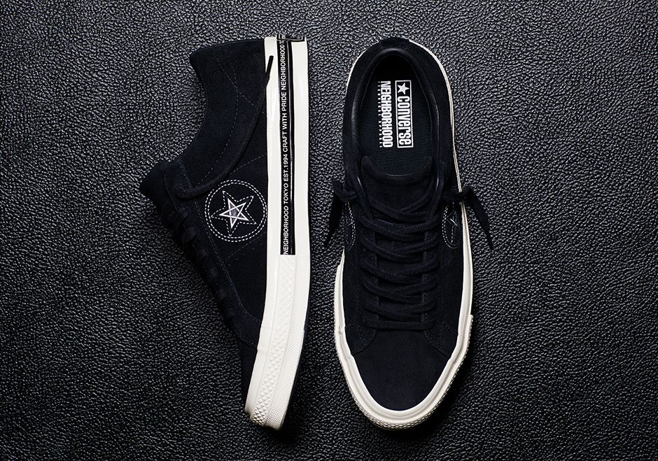 2586fed45e04 Both of these models from the NEIGHBORHOOD x Converse collab release  tomorrow for the retail price of  110 and  70.