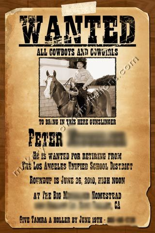 Free Printable Western Birthday Invitations