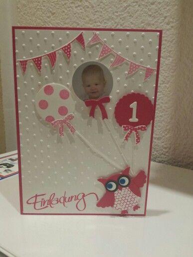 Stampin Up Einladung Geburtstag Kindergeburtstagskarten