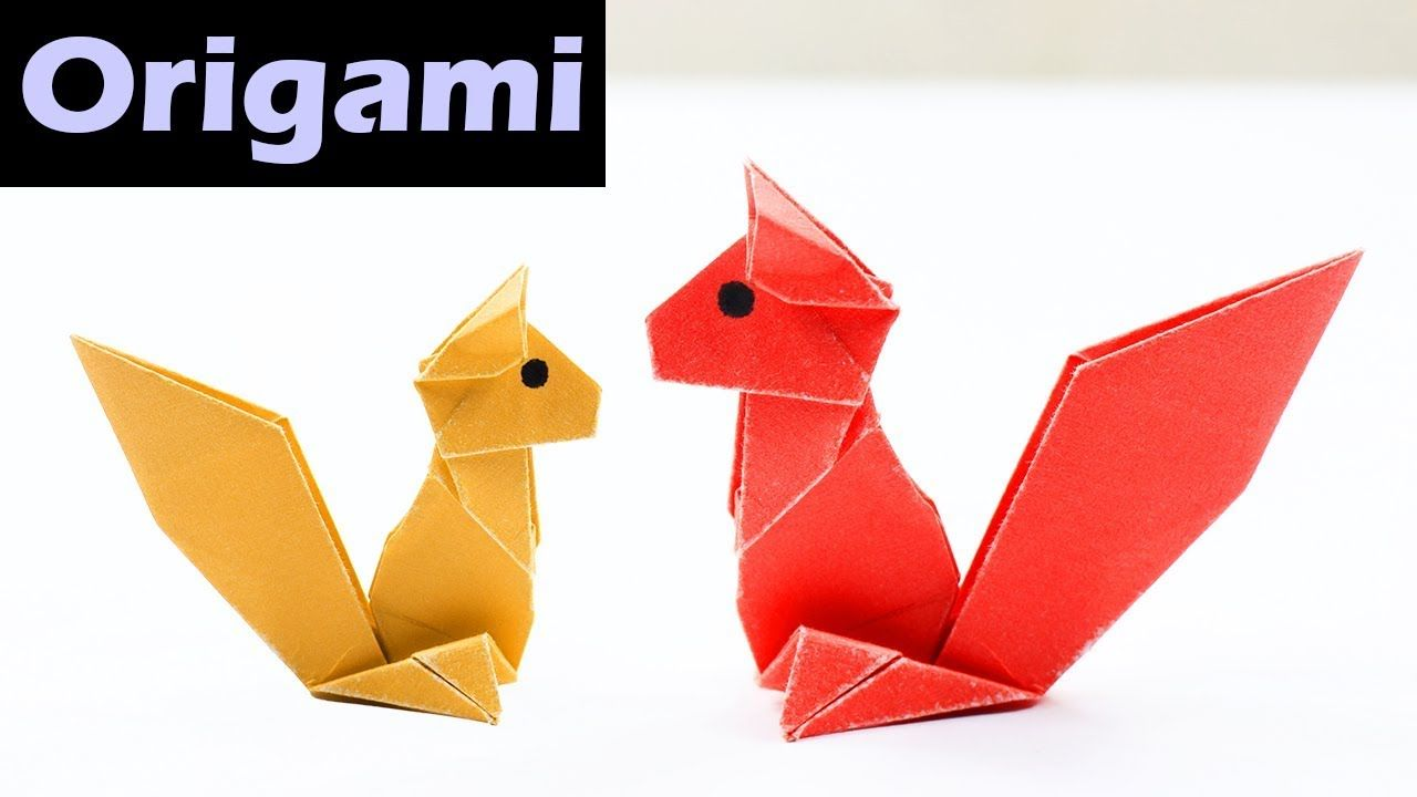 How to make a paper chipmunk easy origami squirrel origami how to make a paper chipmunk easy origami squirrel jeuxipadfo Choice Image