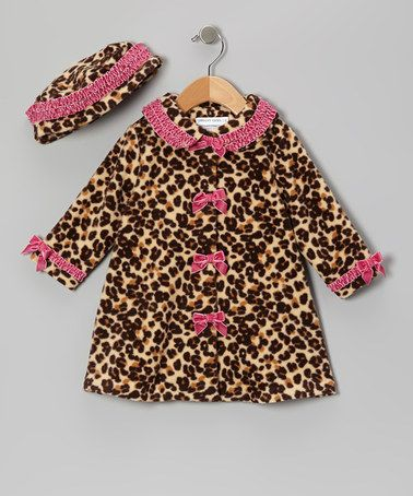 Take a look at this Pink Leopard Fleece Swing Coat & Beanie - Infant, Toddler & Girls by Gerson & Gerson on #zulily today!