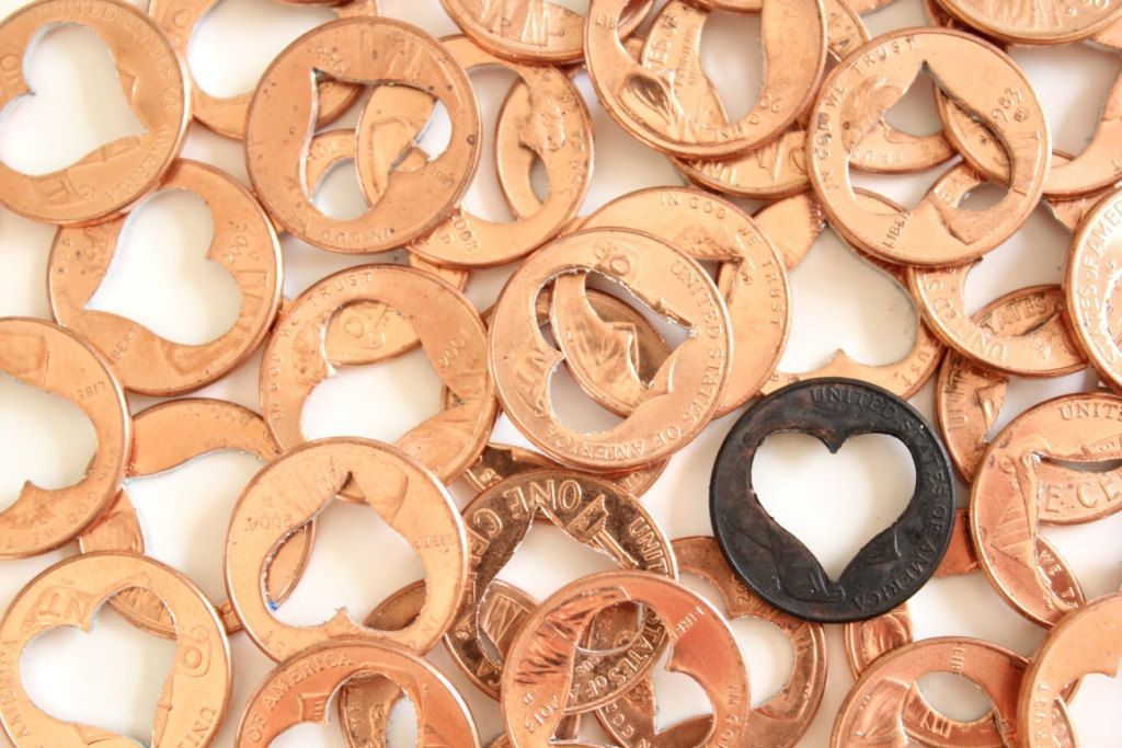 Lucky In Love 4 Heart Penny Wedding Favors By Thelonelyheart