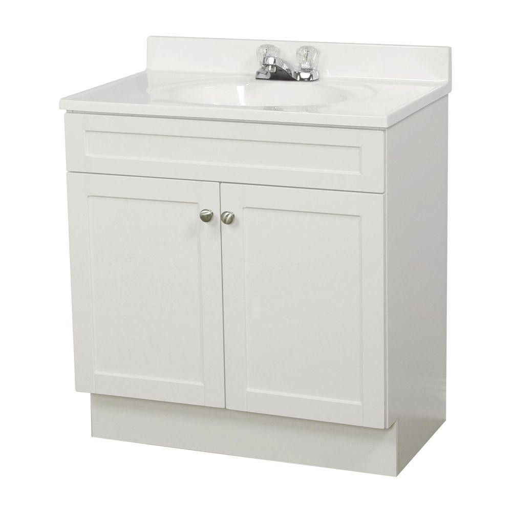 Traditional White Shaker Bathroom Vanities RTA Cabinet Store from ...