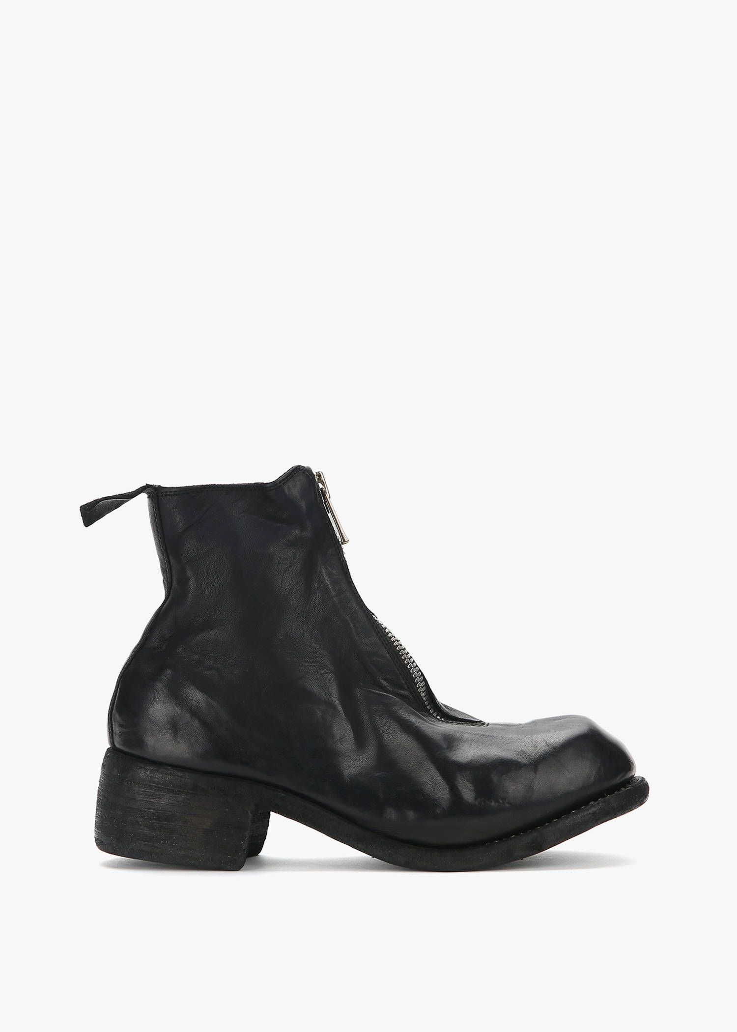 The Most Popular Guidi Pl1 Front Zip Leather Boots Black For Men On Sale