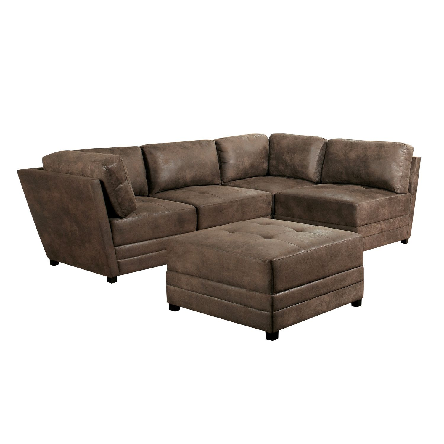 "Laredo 75"" Sectional Sofa & Ottoman"