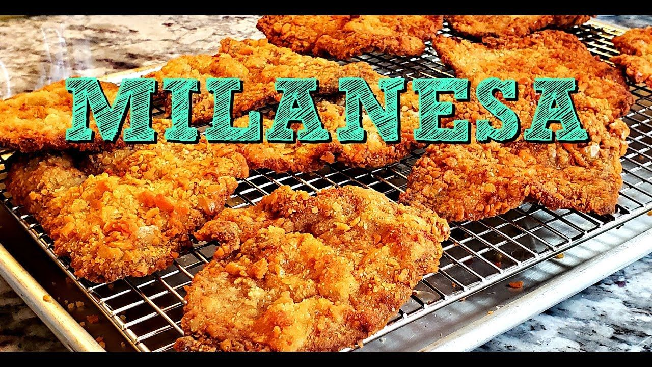 How To Make Crunchy Milanesa   Breaded Thin Beef Cutlets Recipe   4K Cooking Videos - YouTube ...