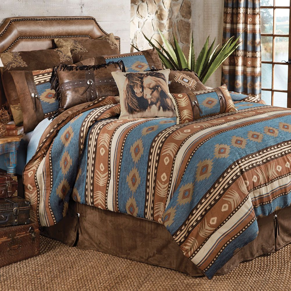 Rustic Bedding King Size Sierra Bed Set Black Forest Decor