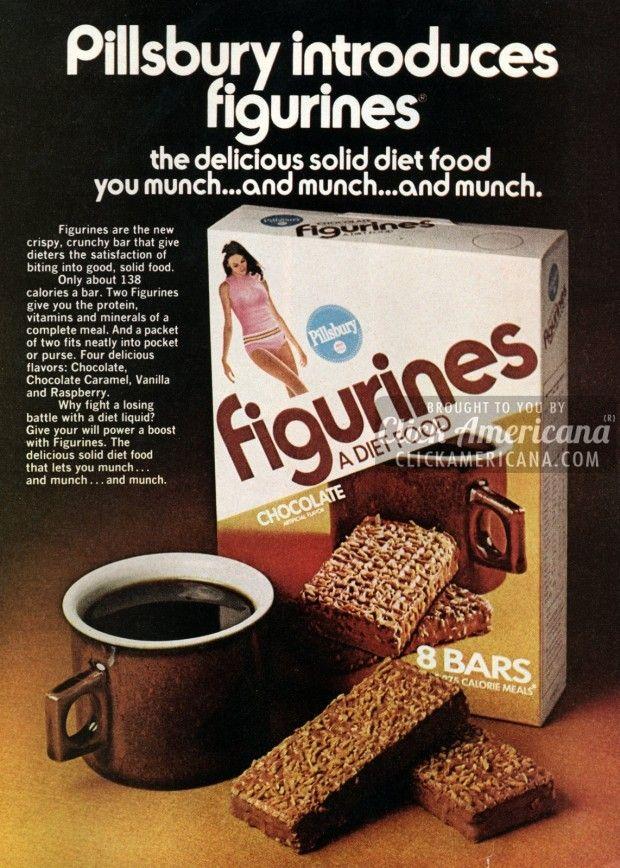 Figurines Crispy Crunchy Diet Bars 1974 Amp 1978 Candy