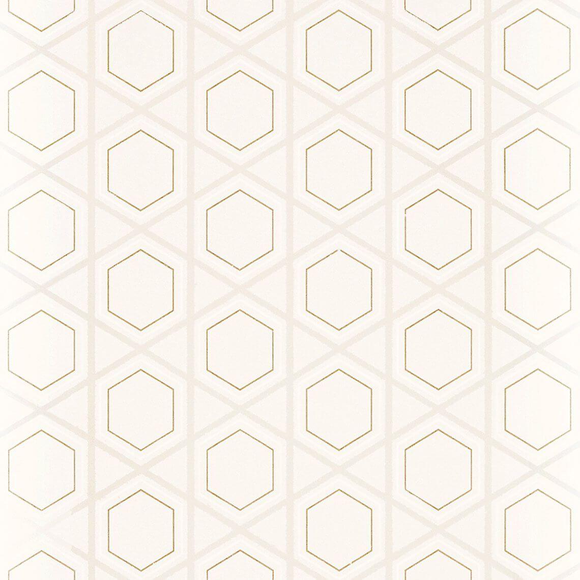 Papier peint SANA 100% intissé motif graphique détails métallisés ...
