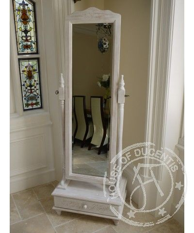 Shabby Cheval Mirror With Drawer