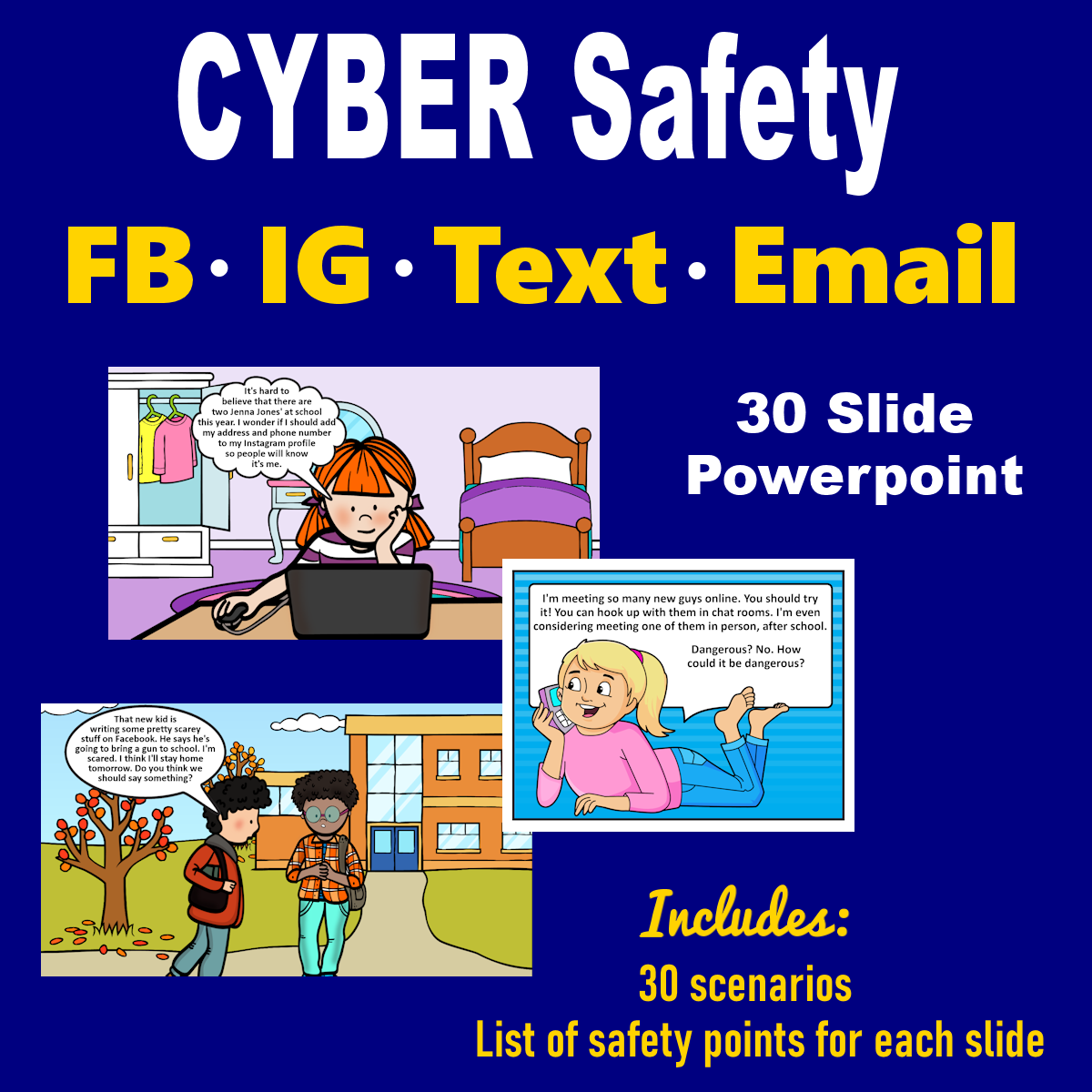 Cyber Safety Powerpoint With Images