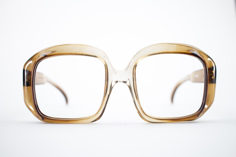 70s Glasses Frame Oversized Vintage Glasses 1970s Etsy Vintage Eyeglasses Vintage Eyeglasses Frames Vintage Glasses
