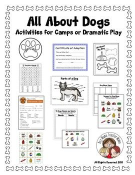 All About Dogs Ideas for Camps, Classes and Dramatic Play