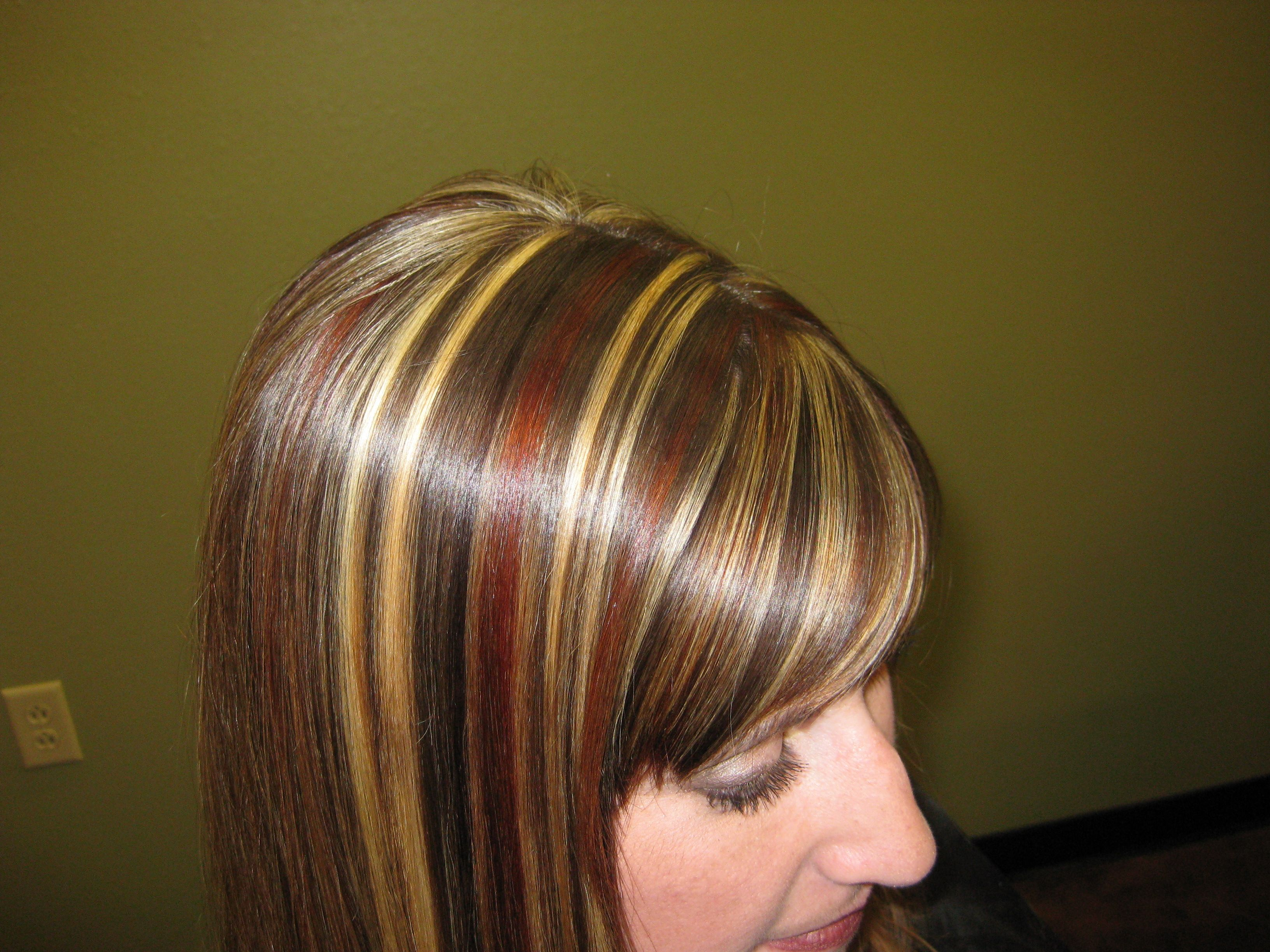 Red And Blonde Highlights Red Brown And Blonde