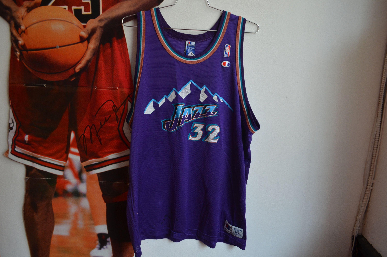 67cd337fc57 Vintage 90s Champion Karl Malone Utah Jazz Postman Unisex NBA Jersey by  RadOTR on Etsy