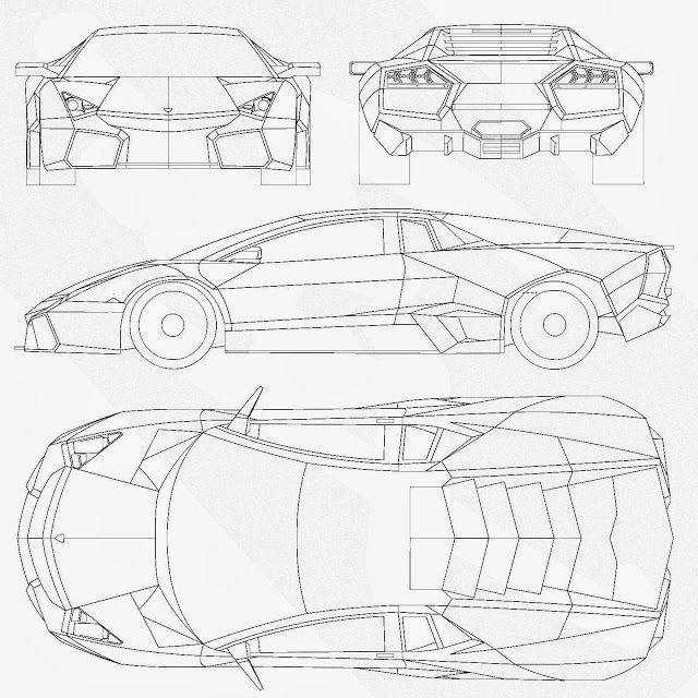Most Loved Car Blueprints For 3D Modeling | CGfrog  Graphic, Web, Designs,  Photography, 3D, Inspiration, Photoshop