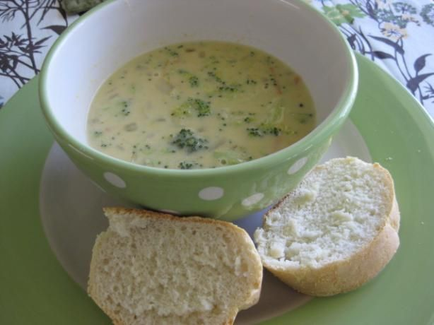 Panera copycat broccoli and cheese soup. Must have husband make.