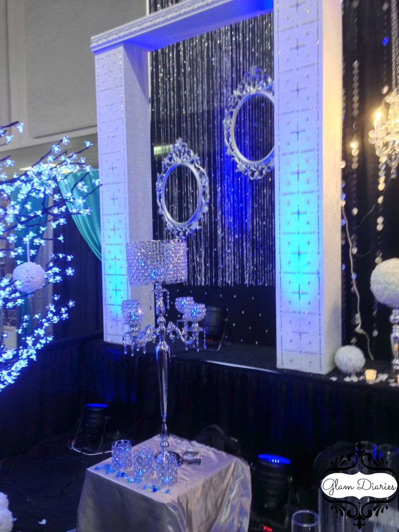 Black And White With Royal Blue Decor Royal Blue Wedding Royal Blue Wedding Theme Silver Wedding Decorations