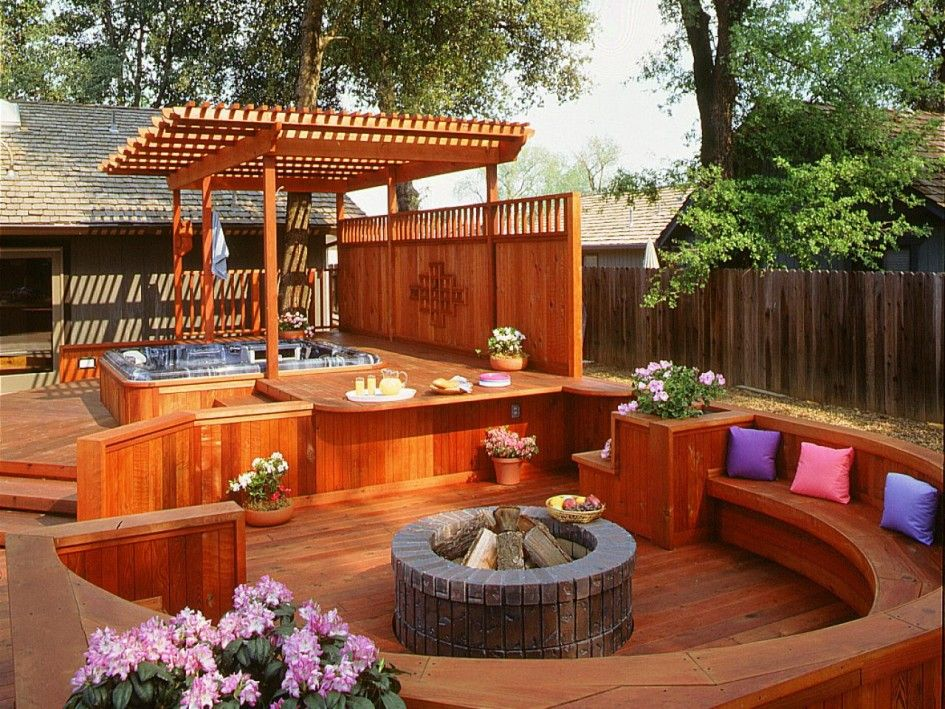 Patio outdoor gazebo spa hot tub rectangular shape for Spa patio designs