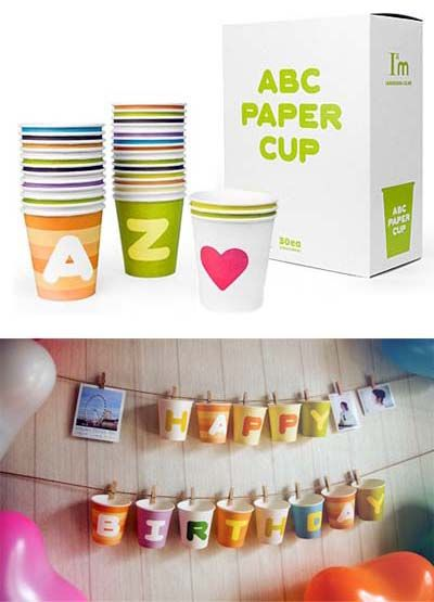 ABC paper cups
