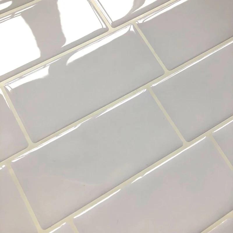 Weiss U Bahn Zuruck Splash Fliesen Schalen Und Stick Selbstklebende Wand Aufkleber Aufkleber Diy Kuche Bad Home Decor Vinyl Grand In 2020 Fliesen Aufkleber Home Decor