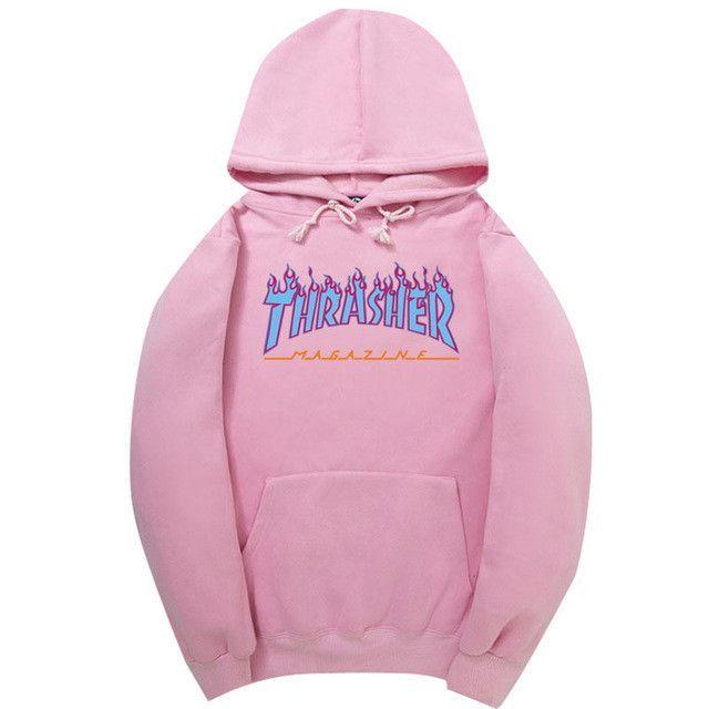 3b63aef6666e 2017 High Quality Mens Thrasher Sweatshirt Hoodies Men Pink trasher Skateboards  Hoodie Male Cotton Sweat Thrasher Sweatshirt Hoo