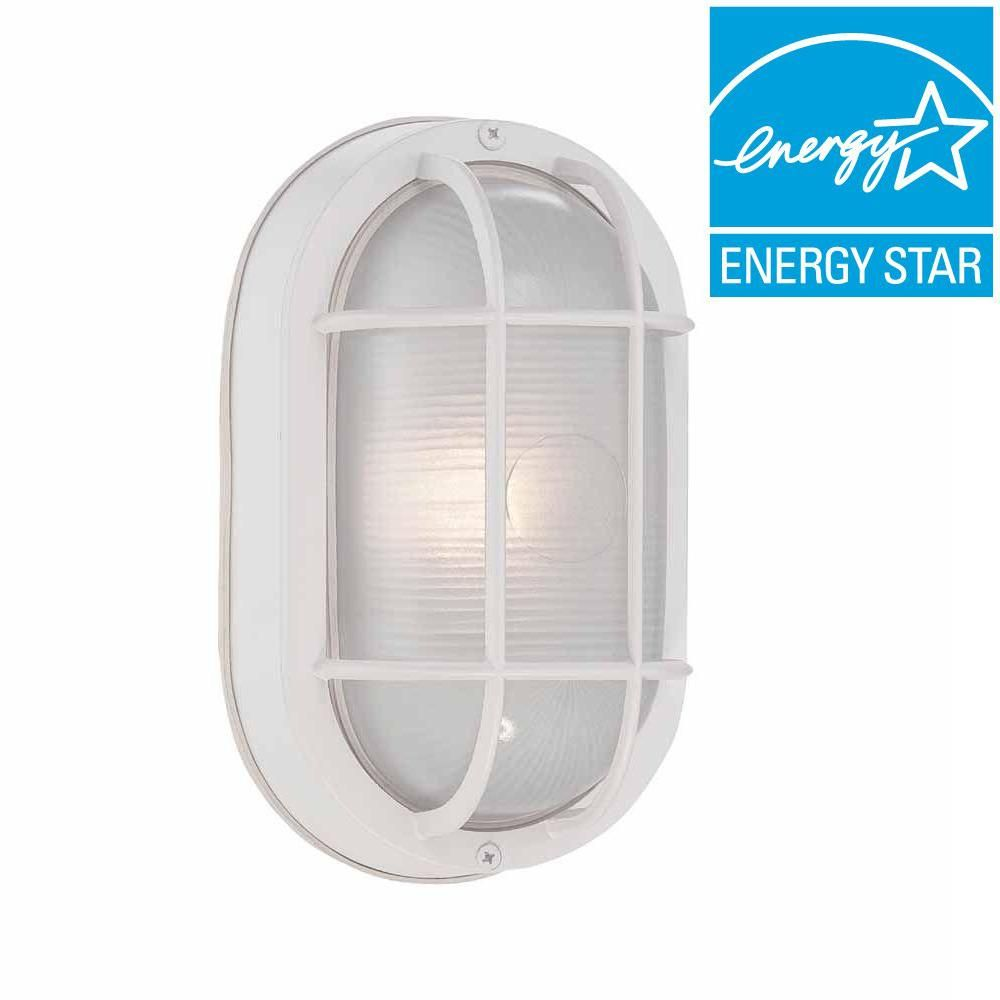 Hampton Bay White Outdoor Led Wall Lantern Hb8822led 06 Wall Lantern Outdoor Wall Mounted Lighting Hampton Bay