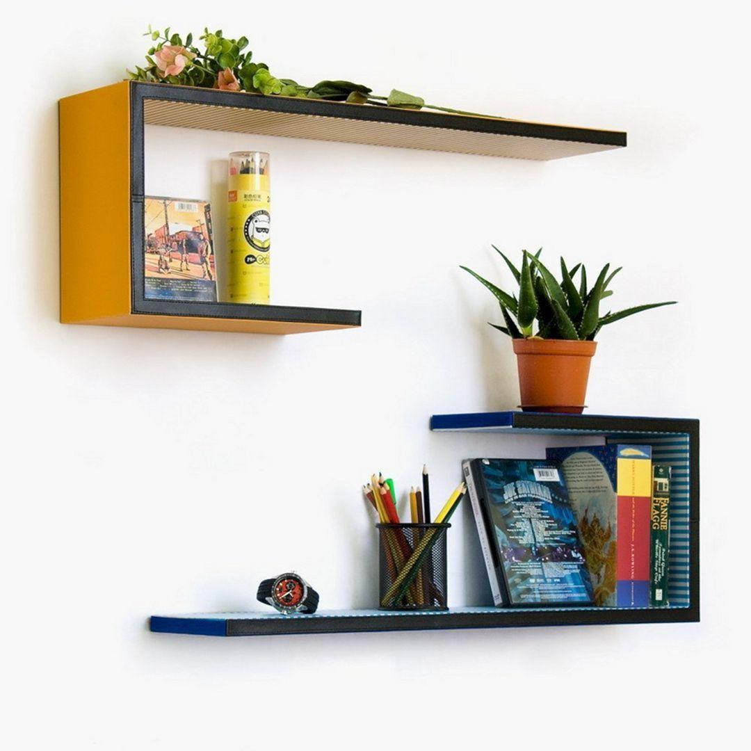 60 Decorative Wall Designs Ideas To Make Your House Looks More Beautiful Freshouz Com Unique Wall Shelves Shelf Design Floating Shelves