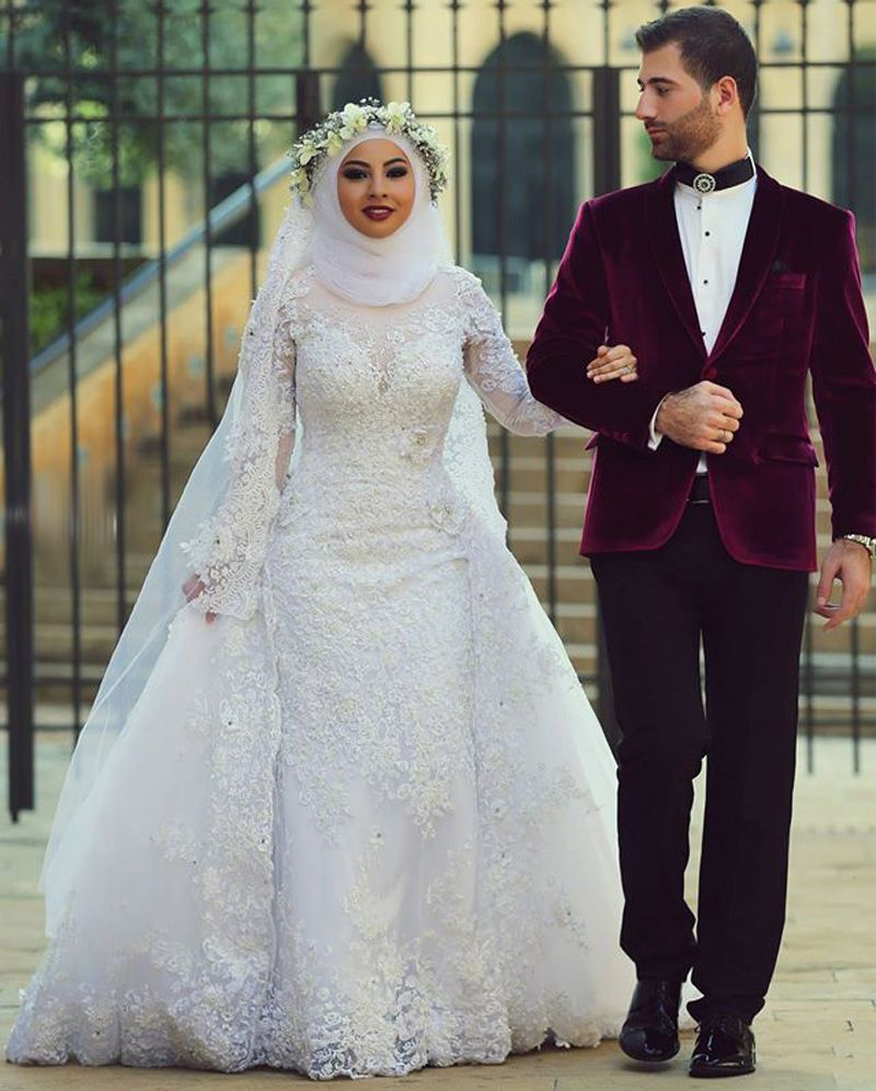 Find more wedding dresses information about dubai kaftan luxury find more wedding dresses information about dubai kaftan luxury mermaid round neck long sleeve beaded muslim ombrellifo Image collections