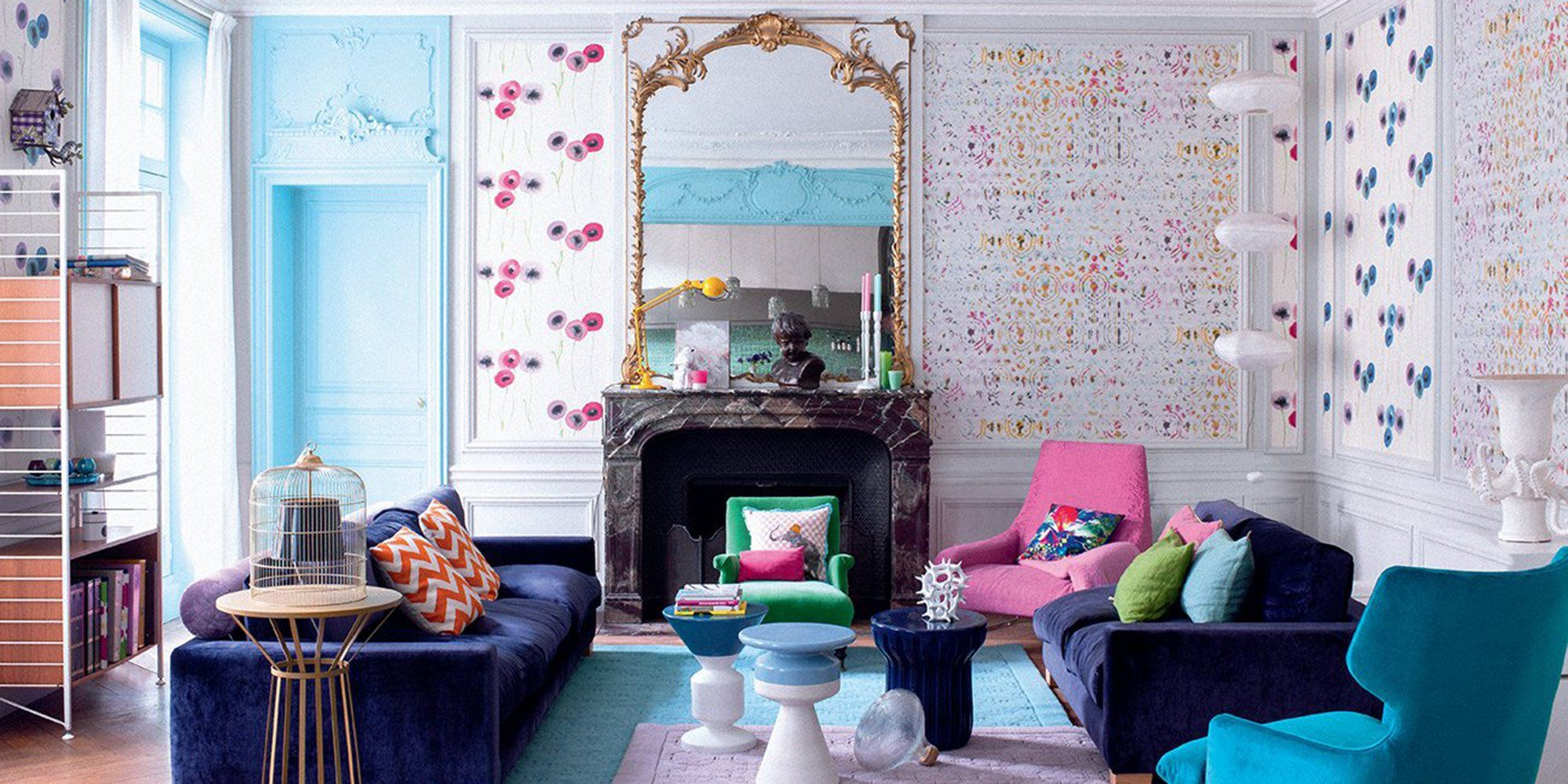 Salon Coloré Nos Plus Belles Inspirations Pour Un Salon Multicolore Salon Coloré Appartement Coloré Tendance Deco 2017