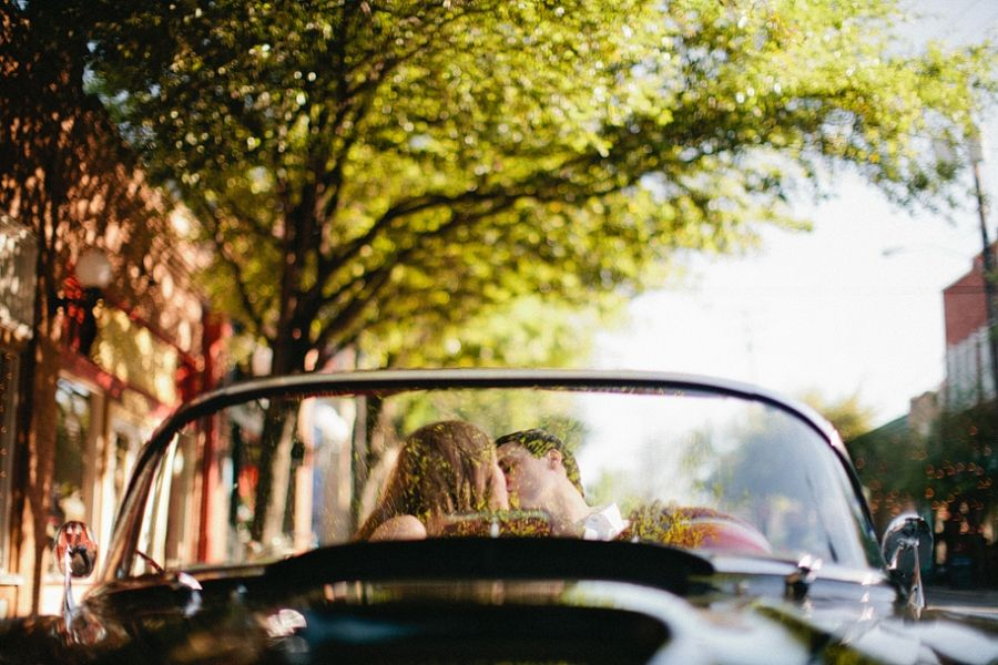Old vintage car engagements! Love it! By Jennefer Wilson