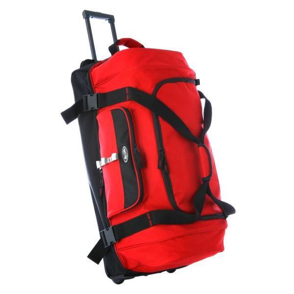 30 In Red Drop Bottom Rolling Duffel Rd 6030 Rd The Home Depot Bags Duffel Rolling Duffle Bag
