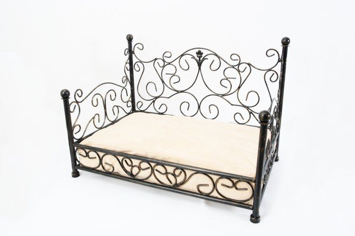 Phoebe Black Fancy Cast Iron Pet Bed Designer Dog Beds Dog