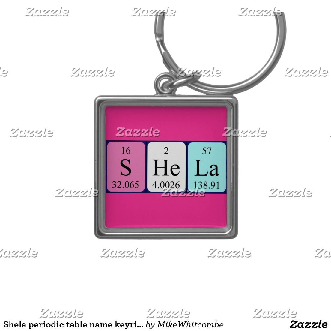 Shela periodic table name keyring silver colored square key ring shela periodic table name keyring silver colored square key ring gamestrikefo Image collections