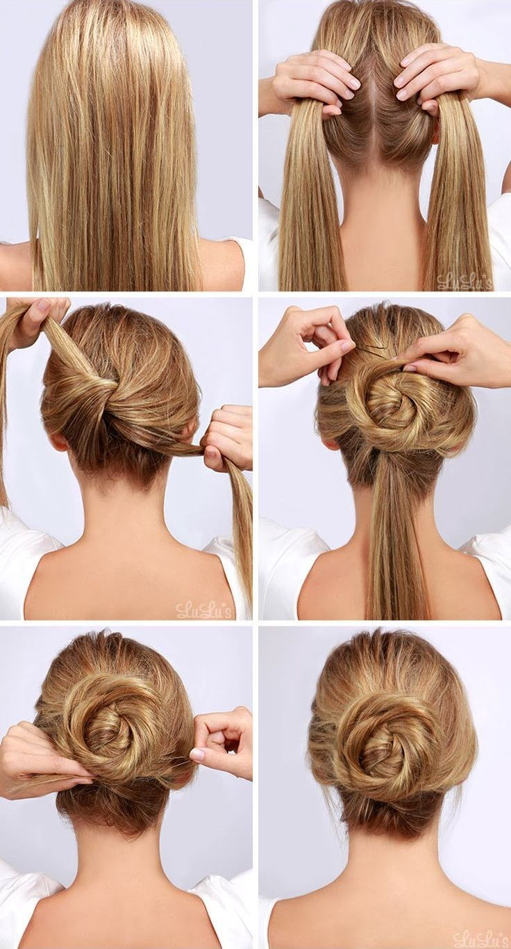 With some simple steps you can create this twisted hair bun look