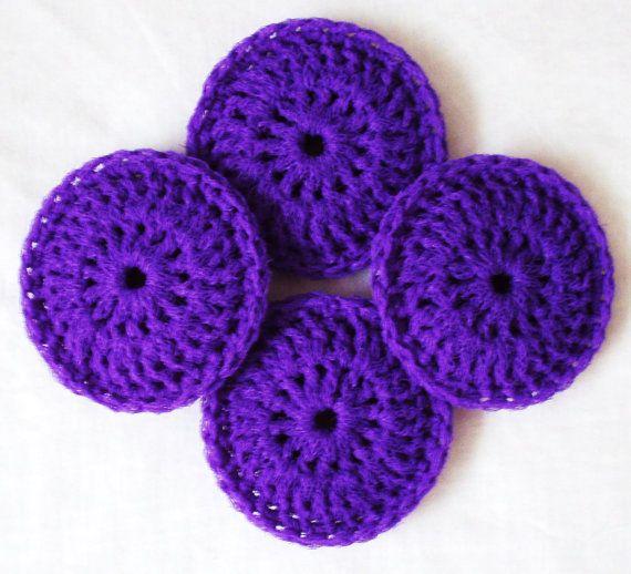 Nylon Pot Scrubber - Set of 2 through 8 - Royal Purple Dish ...