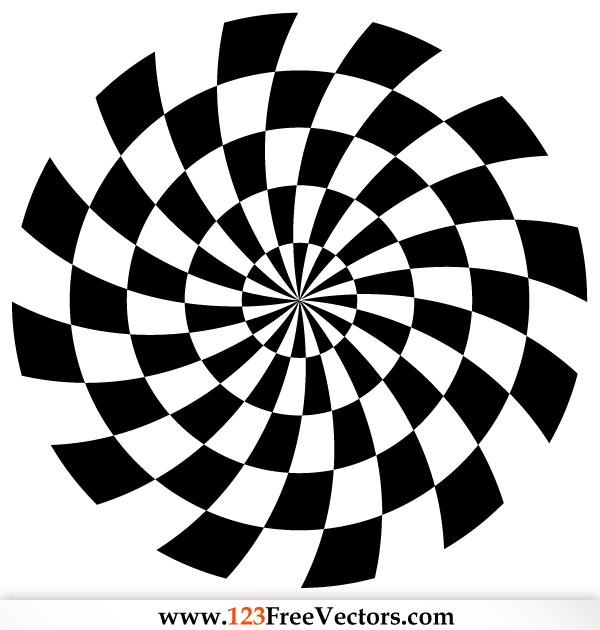 spiral optical illusion vector   free vectors   pinterest