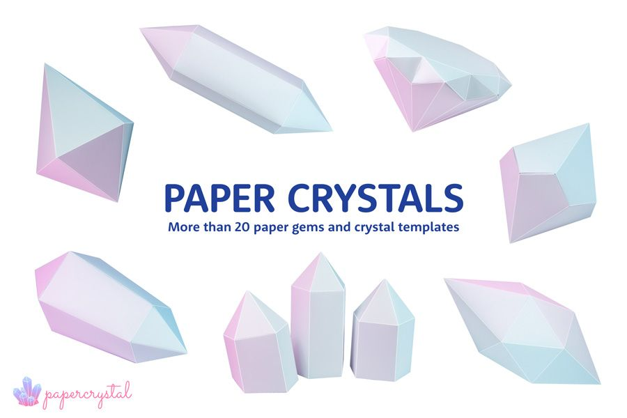 printable paper gems crystal templates oragami paper