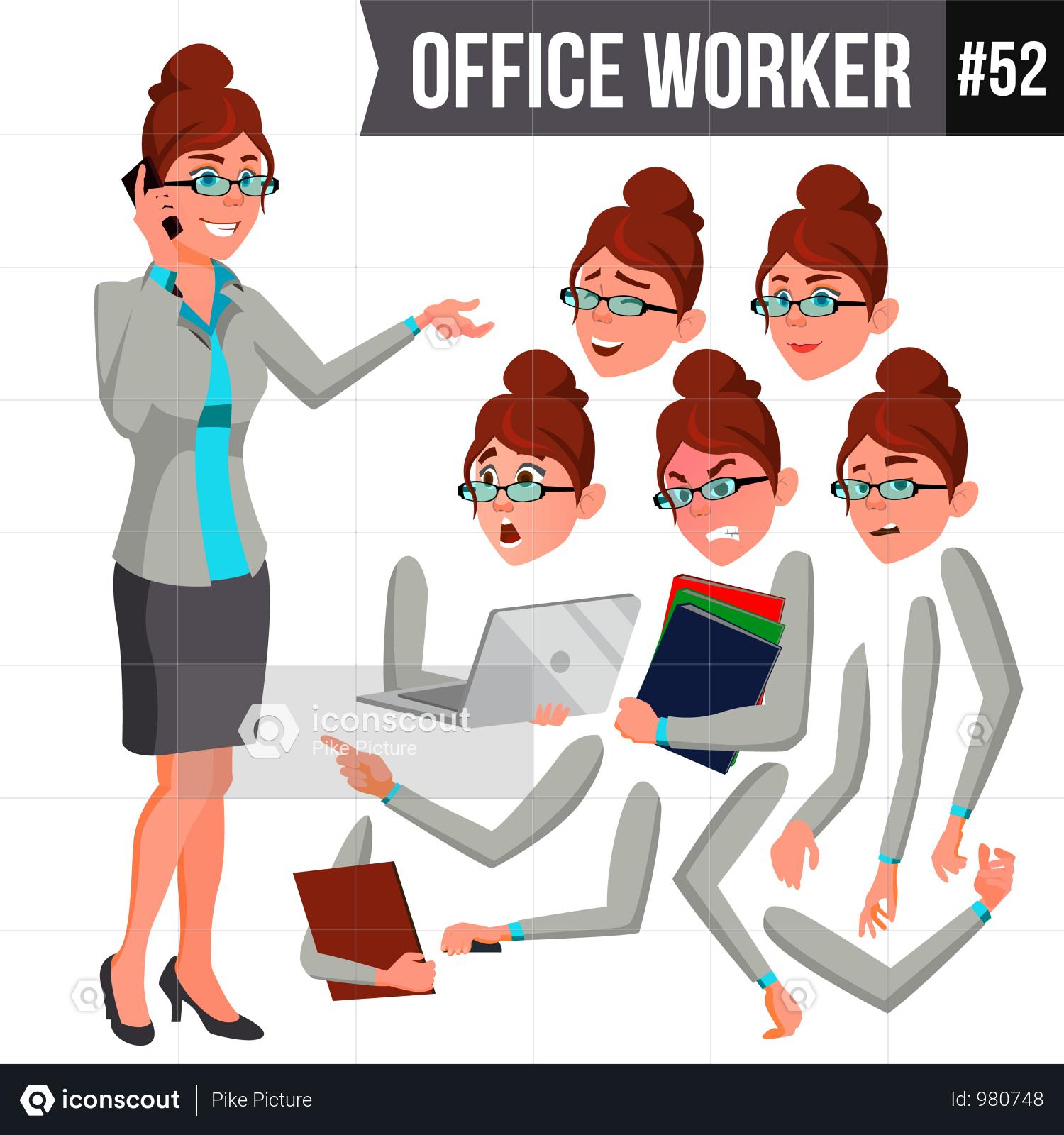 Premium Office Worker Illustration Download In Png Vector Format Character Illustration Kids Vector Cartoon Illustration