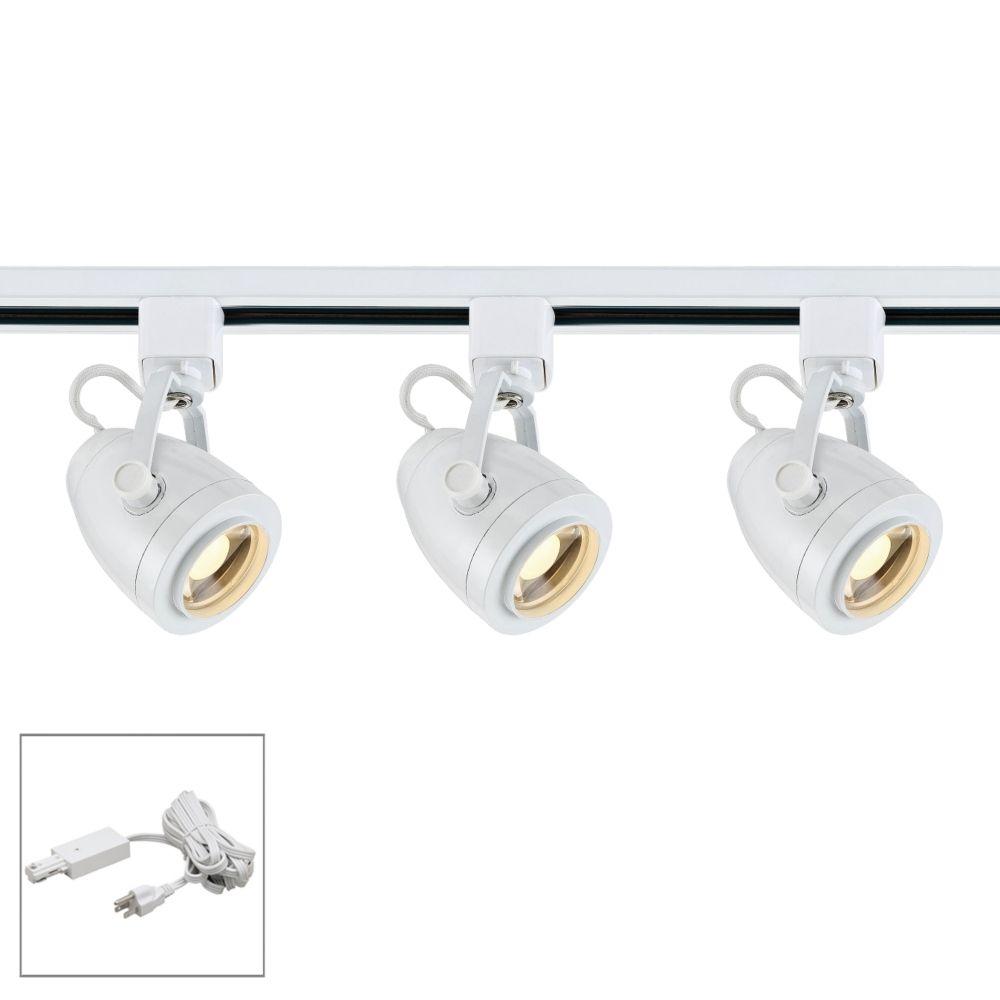 Nuvo Lighting 3 Light White Pinch Back Led Plug In Track Kit