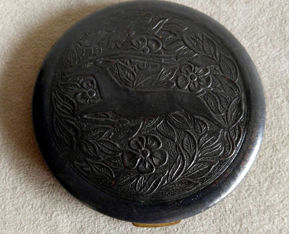 Large Vintage Fifth Avenue Makeup Compact Powder Antelope