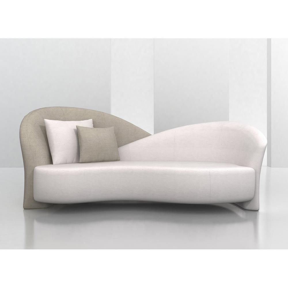 Designer overlapping backed sofa made in the USA